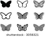 butterflies | Shutterstock .eps vector #3058321