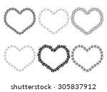 vector black frames in shape of ... | Shutterstock .eps vector #305837912