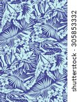 tropical seamless pattern in... | Shutterstock .eps vector #305853332