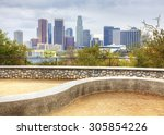 los angeles city center with a... | Shutterstock . vector #305854226