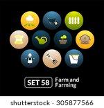 flat icons set 58   farm and...