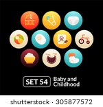 flat icons set 54   baby and...
