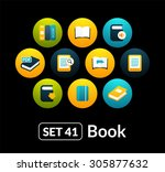 flat icons vector set 41   book ...