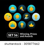 flat icons set 56   winning ...
