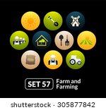 flat icons set 57   farm and...