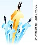 successful businessman   Shutterstock .eps vector #305879732