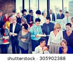 people global communication... | Shutterstock . vector #305902388