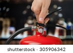 fire extinguisher. | Shutterstock . vector #305906342