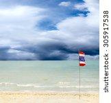 thailand beach  sea sand sky ...   Shutterstock . vector #305917538