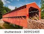 Sachs Covered Bridge  A Town...