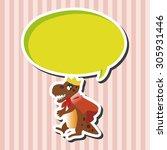 dinosaur cartoon theme elements ...   Shutterstock .eps vector #305931446