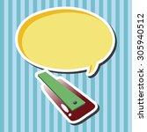 golf equipment theme elements | Shutterstock .eps vector #305940512