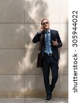 young business executive... | Shutterstock . vector #305944022