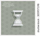 hour glass vector icon | Shutterstock .eps vector #305957198