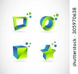 vector company logo icon... | Shutterstock .eps vector #305970638