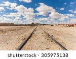 Old Train Rails In Uyuni Bolivia