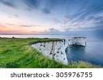 Sunset Over Old Harry Rocks...