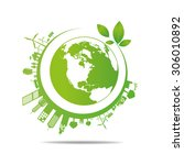 ecology concept. save world | Shutterstock .eps vector #306010892