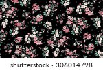 watercolor hand drawn seamless... | Shutterstock .eps vector #306014798