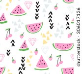 vector seamless pattern with... | Shutterstock .eps vector #306017126