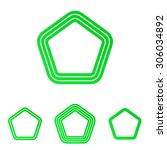green line five corner logo...