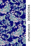 vintage rose and paisley... | Shutterstock .eps vector #306041066