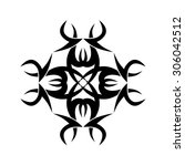 tribal tattoo vector design... | Shutterstock .eps vector #306042512
