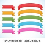 ribbons set | Shutterstock .eps vector #306055076