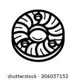 flat vector icon of coffee... | Shutterstock .eps vector #306057152