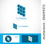 vector company logo icon... | Shutterstock .eps vector #306059372