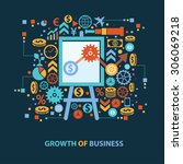growth of business concept... | Shutterstock .eps vector #306069218