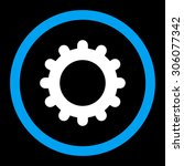 gear vector icon. this rounded...   Shutterstock .eps vector #306077342