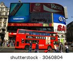 piccadilly circus in the spring ...