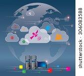 cloud computing concept   Shutterstock .eps vector #306083588