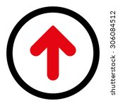 arrow up vector icon. this... | Shutterstock .eps vector #306084512