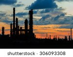 petrochemical plant in... | Shutterstock . vector #306093308