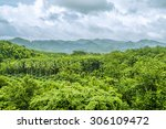 view of mountain with fog in... | Shutterstock . vector #306109472