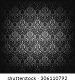 vector illustration of black... | Shutterstock .eps vector #306110792