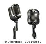 old microphone | Shutterstock . vector #306140552