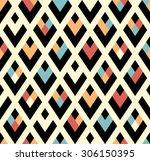 seamless vector geometric... | Shutterstock .eps vector #306150395