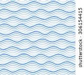 seamless sea pattern. vector... | Shutterstock .eps vector #306154415