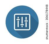 power slider icon. flat design. ...