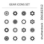 gear icons set | Shutterstock .eps vector #306182312