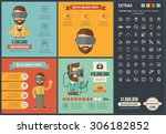 virtual reality infographic... | Shutterstock .eps vector #306182852
