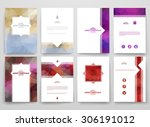 multicolored brochures template ... | Shutterstock .eps vector #306191012