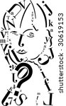 font girl | Shutterstock .eps vector #30619153
