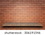 empty top of natural stone... | Shutterstock . vector #306191546