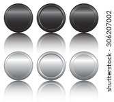 black and metal coins | Shutterstock .eps vector #306207002