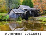 Mabry Mill In Autumn   Blue...