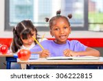 multi ethnic primary class... | Shutterstock . vector #306222815